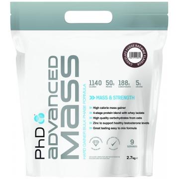 PhD Nutrition Advanced Mass 5400 g čokoláda + dárek zdarma