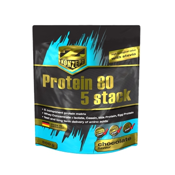 Z-Konzept Protein 80 5 Stack 2000 g jahoda + dárek zdarma