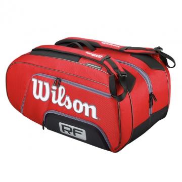 Wilson Federer Elite 2015 červená tenisový bag + dárek zdarma a DOPRAVA ZDARMA
