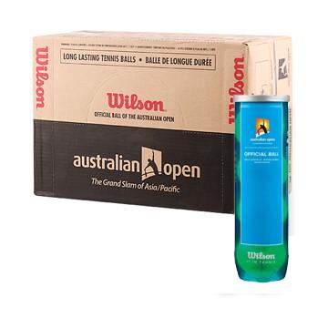 Wilson Australian Open tenisové míče - karton (72 míčů) + dárek zdarma