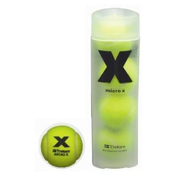 Tretorn Micro X tenisové míče - dóza (4 míče) + dárek zdarma