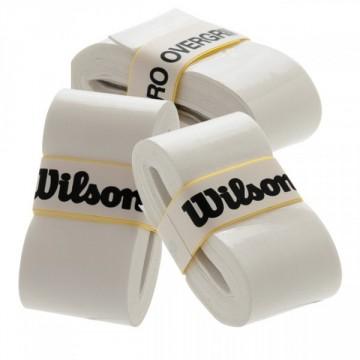 Wilson PRO OVERGRIP 3 ks bílá tenisová omotávka + dárek zdarma