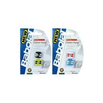 Babolat vibrastop CUSTOM DAMP 2 ks bílá a modrá tenisové tlumítko + dárek zdarma