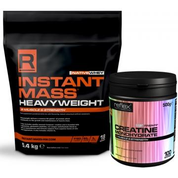 Reflex Nutrition Instant Mass Heavy Weight 5400 g čokoláda + dárek zdarma